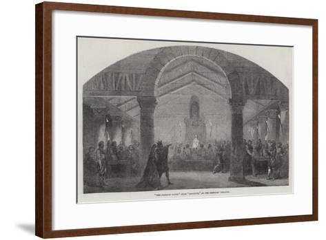The Banquet Scene from Macbeth, at the Princess' Theatre--Framed Art Print