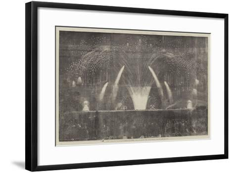 The Peace Commemoration, the Fireworks in Victoria-Park--Framed Art Print