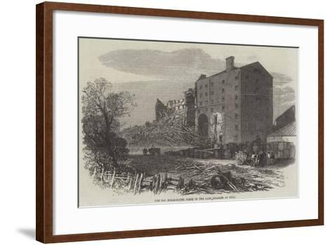 The Old Sugar-House, Scene of the Late Disaster at Hull--Framed Art Print