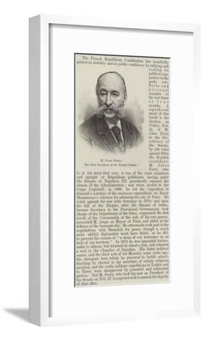 M Jules Ferry, the New President of the French Senate--Framed Art Print