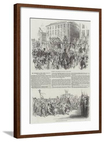 The Procession of the Queen of Spain to the Church of Atocha--Framed Art Print