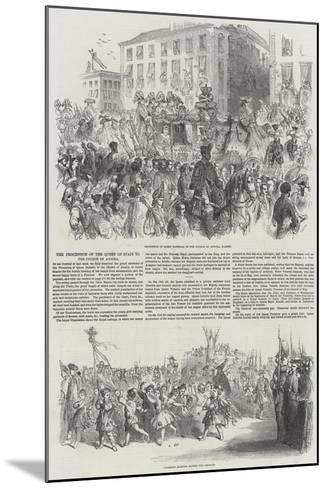 The Procession of the Queen of Spain to the Church of Atocha--Mounted Giclee Print