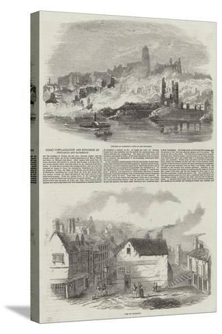 Great Conflagration and Explosion at Newcastle and Gateshead--Stretched Canvas Print
