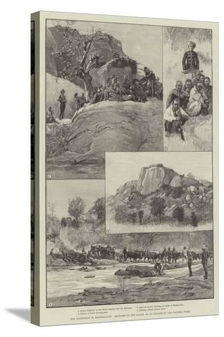 The Expedition to Mashonaland, Sketches on the March--Stretched Canvas Print