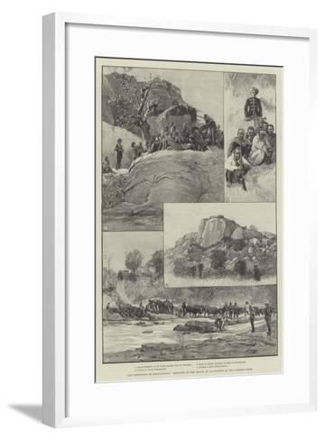 The Expedition to Mashonaland, Sketches on the March--Framed Art Print