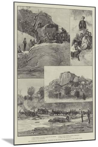 The Expedition to Mashonaland, Sketches on the March--Mounted Giclee Print
