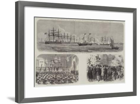 Visit of the Prince and Princess of Wales to Denmark--Framed Art Print