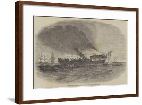 The Europa Transport Ship, as She Appeared 1 June, Seven Am--Framed Art Print