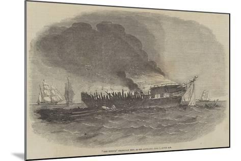 The Europa Transport Ship, as She Appeared 1 June, Seven Am--Mounted Giclee Print