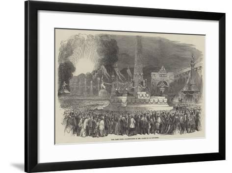 The Paris Fete, Illumination in the Place De La Concorde--Framed Art Print