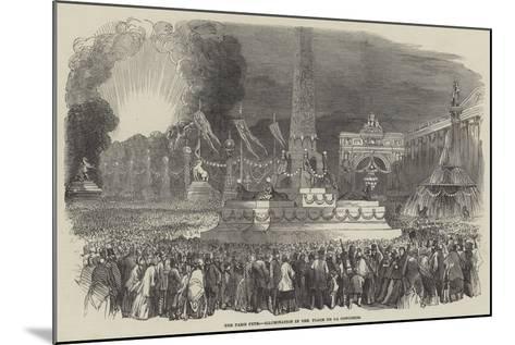 The Paris Fete, Illumination in the Place De La Concorde--Mounted Giclee Print