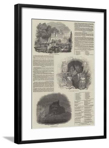 Visit of Her Majesty and Prince Albert to Arundel Castle--Framed Art Print