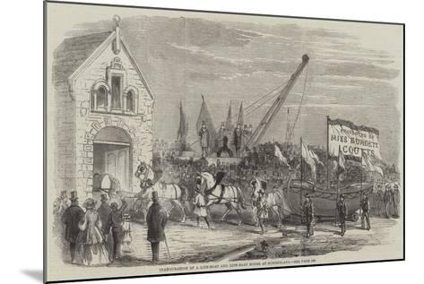 Inauguration of a Life-Boat and Life-Boat House at Sunderland--Mounted Giclee Print