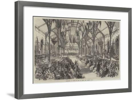 Exhibition of Works of Art at Leeds, the Central Hall--Framed Art Print