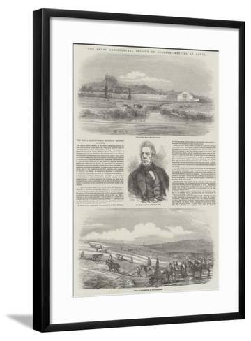 The Royal Agricultural Society of England, Meeting at Lewes--Framed Art Print