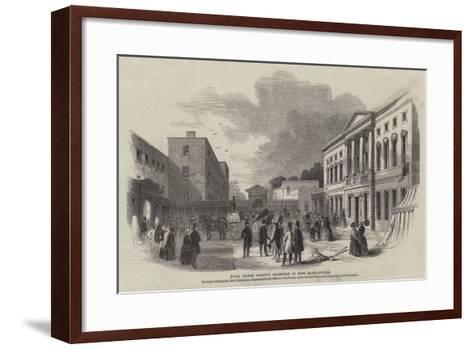 Royal Dublin Society's Exhibition of Irish Manufactures--Framed Art Print