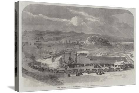 New Floating-Docks at Britonferry, Near Neath, Glamorganshire--Stretched Canvas Print