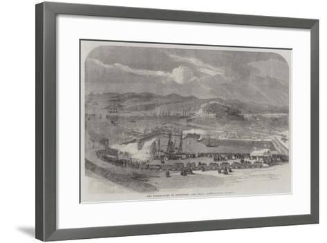 New Floating-Docks at Britonferry, Near Neath, Glamorganshire--Framed Art Print
