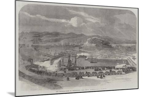 New Floating-Docks at Britonferry, Near Neath, Glamorganshire--Mounted Giclee Print