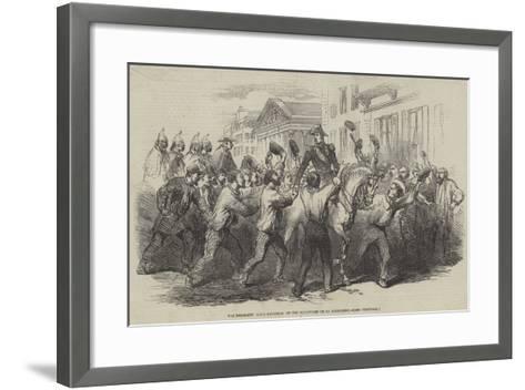 The President Louis Napoleon on the Boulevard De La Madeleine--Framed Art Print