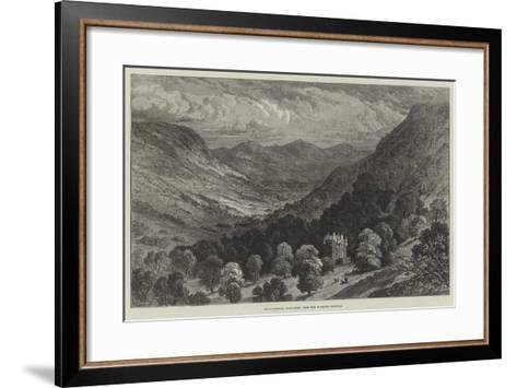 Strathpeffer, Ross-Shire, from the Highland Railway--Framed Art Print