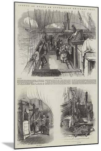 Scenes on Board an Australian Emigrant Ship--Mounted Giclee Print
