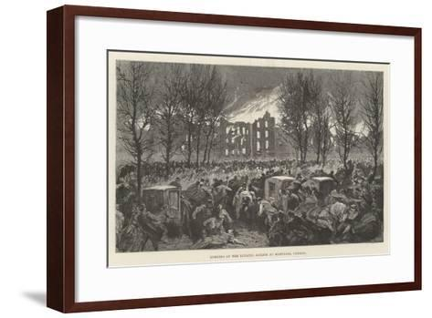 Burning of the Lunatic Asylum at Montreal, Canada--Framed Art Print
