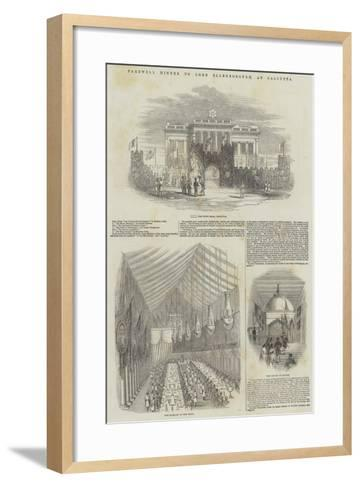 Farewell Dinner to Lord Ellenborough, at Calcutta--Framed Art Print