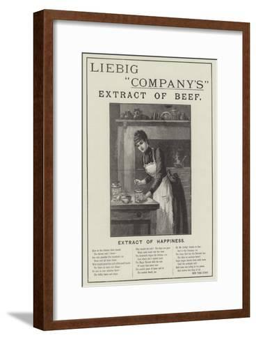 Advertisement, Liebig Company's Extract of Beef--Framed Art Print