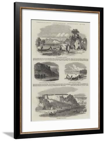 Transatlantic Sketches, the Mississippi River--Framed Art Print