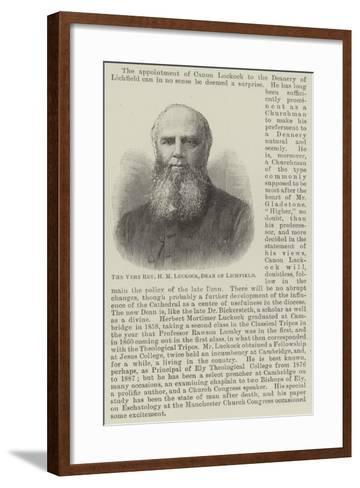 The Very Reverend H M Luckock, Dean of Lichfield--Framed Art Print
