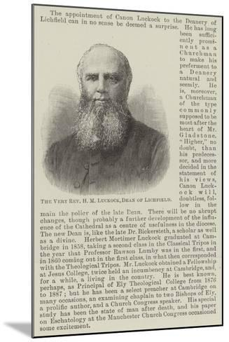 The Very Reverend H M Luckock, Dean of Lichfield--Mounted Giclee Print