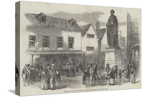 Statue of the Late Sir Robert Peel, at Tamworth--Stretched Canvas Print