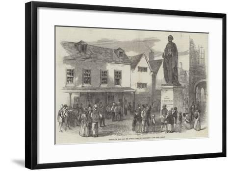 Statue of the Late Sir Robert Peel, at Tamworth--Framed Art Print