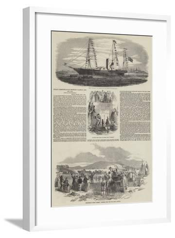 Steam Communication Between Galway and New York--Framed Art Print