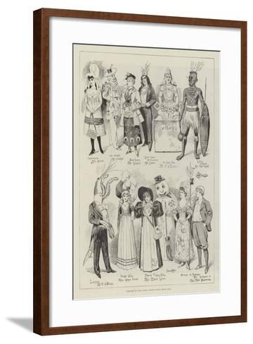 Costumes at the Covent Garden Fancy Dress Ball--Framed Art Print