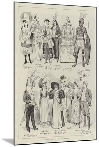 Costumes at the Covent Garden Fancy Dress Ball--Mounted Giclee Print