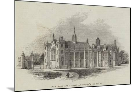 New Hall and Library at Lincoln's Inn Fields--Mounted Giclee Print