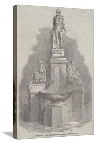 Statue of the Late Joseph Sturge at Birmingham--Stretched Canvas Print