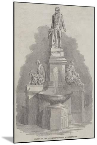 Statue of the Late Joseph Sturge at Birmingham--Mounted Giclee Print