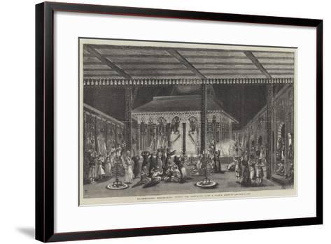 Moorshedabad Emaumbarrif, During the Mohurrum--Framed Art Print