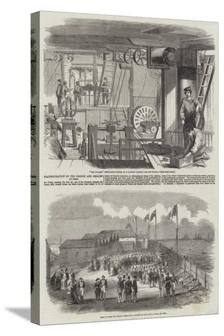 Fraternisation of the French and English at Deal--Stretched Canvas Print