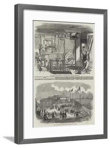 Fraternisation of the French and English at Deal--Framed Art Print