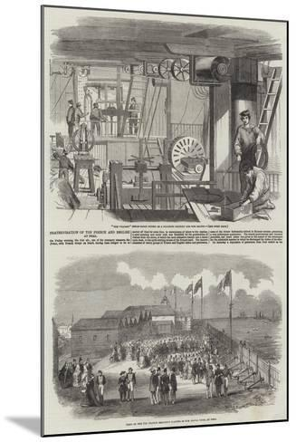 Fraternisation of the French and English at Deal--Mounted Giclee Print