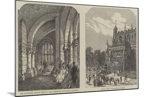 Illustrations of the Gloucester Musical Festival--Mounted Giclee Print