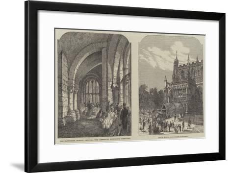 Illustrations of the Gloucester Musical Festival--Framed Art Print