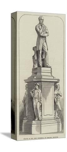 Statue of Mr John Cockerill at Seraing, Belgium--Stretched Canvas Print