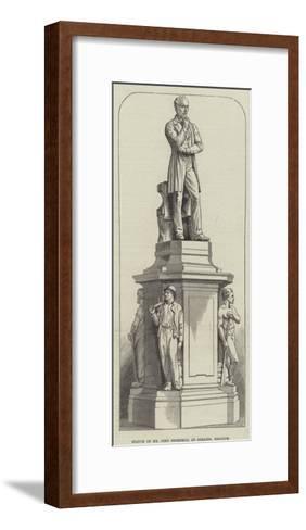 Statue of Mr John Cockerill at Seraing, Belgium--Framed Art Print