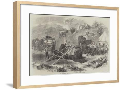The Abyssinian Expedition, the Elephant Train--Framed Art Print
