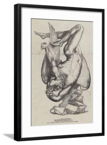 Mr a Brown's Model of Satan Falling from Heaven--Framed Art Print